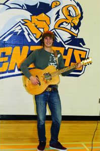 One-of-a-kind guitar strikes a chord with students
